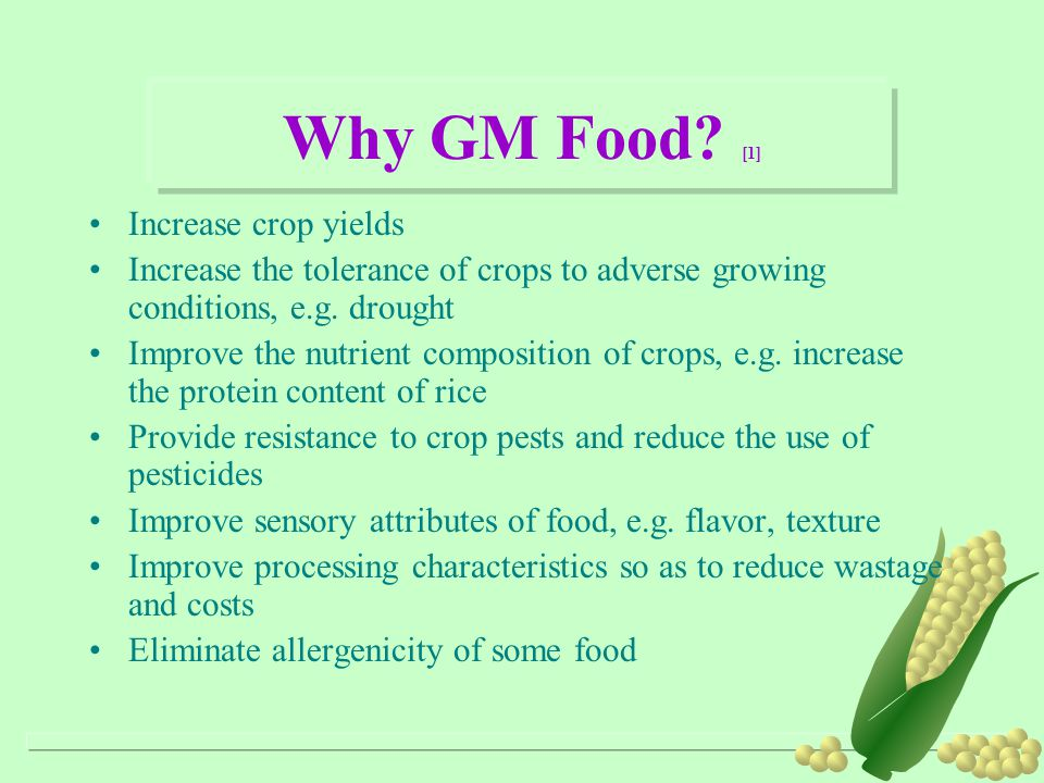 Why GM Food [1] Increase crop yields
